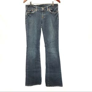 Lucky dream jeans dirty blue low rise long jeans
